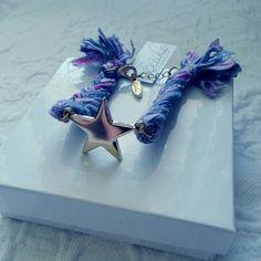 ETTIKA Ettika purple braided star charm bracelet. 6inch with 1 inch extender Ettika Jewelry