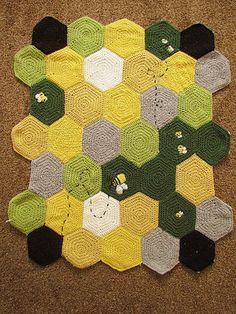 Honeycomb Crocheted Blanket  Custom Order by TLCreationz on Etsy, $249.50