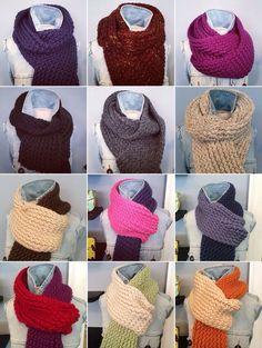 "Handmade loom knit ""loop scarves"" and extra long scarves"
