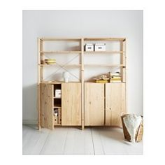 IKEA - IVAR, 2 sections/shelves/cabinet, Untreated solid pine is a durable natural material that can be painted, oiled or stained according to preference.You can move shelves and adapt spacing to suit your needs.