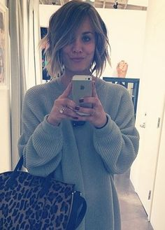 If I ever cut my hair short, I would want it to be like this (this style of bob and choppy)
