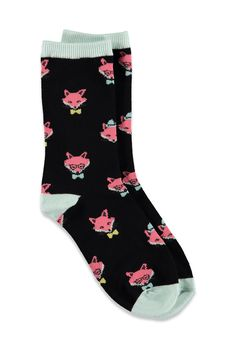 Fox-Patterned Crew Socks - Womens accessories, jewellery and bags | shop online | Forever 21 - Socks & Tights - 2000078146 - Forever 21 EU