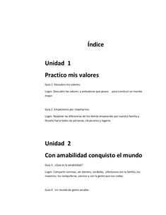 Cartilla de valores grado 3