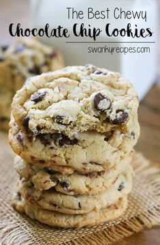 The Best Chewy Chocolate Chip Cookies - The ultimate thick and chewy bakery-style chocolate chip cookies made with semi-sweet chocolate chips and Mexican vanilla.