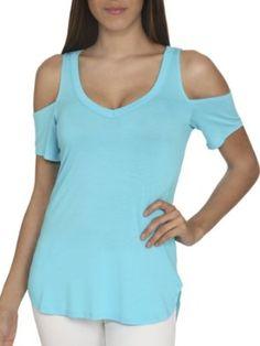 Arden B. Womens Cold Shoulder V-neck Tunic - Price: $29.00 [ http://www.phashionique.com/arden-b-womens-cold-shoulder-v-neck-tunic-2/ ]