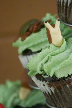 Teensy Snails Cupcake Charms