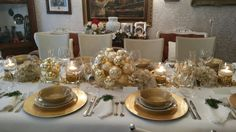 Christmas Tablescapes, Table Settings, Table Decorations, Furniture, Home Decor, Christmas Tables, Decoration Home, Room Decor, Place Settings