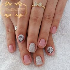 Love Nails, My Nails, Short Nails Art, Perfect Nails, Nail Arts, Manicure And Pedicure, Hair And Nails, Nail Designs, Nail Polish