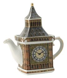 James Sadler Teapots - Big Ben Monument The worlds largest four faced chiming clock, Big Ben has been standing in London at the Palace of Westminster since 1859, and had just celebrated it's 150th anniversary in May of 2009. A survey of 2,000 people confirmed that the tower is the most popular landmark in the UK.List Price:$68.59Our Price: $48.99