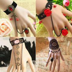 Which bracelets do you prefer ? http://urlend.com/NjqyyaI #Black Lace Ring with Bracelet #Women's Rings Bracelets #Leather Bracelet