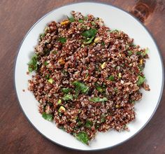 Red Quinoa with Pistachios from The Bitten Word