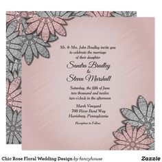 Chic Rose Floral Wed