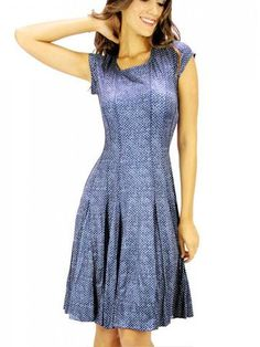 TANGO MANGO PANEL DRESS, BLUE