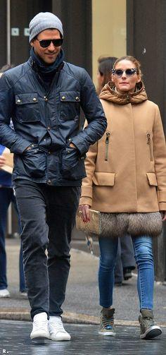 Olivia Palermo wore the coolest rain coat ever!