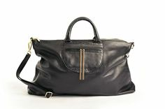 Black Leather Purse (also in brown)