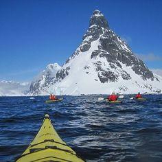 Paddling in Antartica. Amazing!