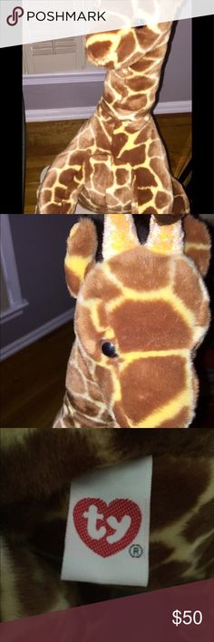 GIRAFFE / STUFFED ANIMAL AMAZING STUFFED GIRAFFE FOR SOMEONE'S PERSONAL COLLECTION OR NURSERY. EXCELLENT CONDITION. TY Other