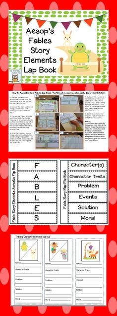 Do you teach fables? Then this is just the book unit you need! I've created both reading and writing activities accompanied by a lap book project that your students will love, AND that can be used with any fables. After teaching fables with my third graders for many years, it has become one of my favorite genres. I'm excited to offer my resources in a new lap book format. Keep in mind, these resources also work well in an interactive notebook.  $6