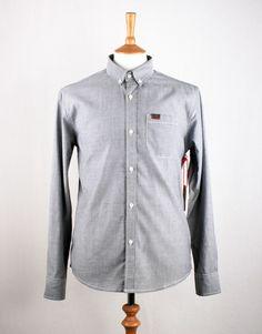 Marshall Artist Yarn Dyed Oxford Shirt - Black