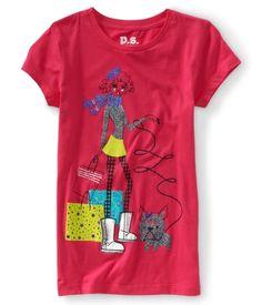 Kids' Shopper Girl Graphic T.