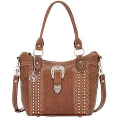 American West Women's Twisted Trail Convertible Bucket Tote