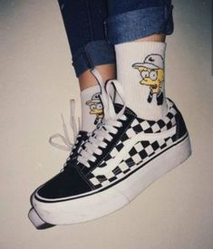 Find images and videos about aesthetic, shoes and outfits on We Heart It - the app to get lost in what you love. High Top Sneakers, Shoes Sneakers, Best Vans Shoes, 90s Shoes, Footwear Shoes, High Heels, Aesthetic Shoes, Aesthetic Quote, Aesthetic Dark