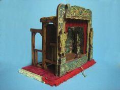 miniatura teatro teatrito fondo del mar musical madera,metal,papel-cartón artesanal,manual