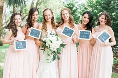 Happy Best Friends Day!  How cute are Caitlin and her bridal party besties in this real Vow wedding wearing the Aidan dress Jenny Yoo in Petal Pink? Tag your girls below! Rent the look with Vow To Be Chic!  @aptbphoto