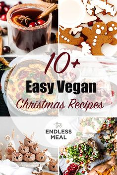 SAVE FOR LATER! Its Christmas time and we are bringing you over 10 easy and delicious vegan Christmas recipes! They are delicious even if you arent vegan. Vegan Christmas Party, Christmas Brunch, Christmas Baking, Christmas Time, Delicious Vegan Recipes, Good Healthy Recipes, Whole Food Recipes, Eggless Recipes, Holiday Recipes