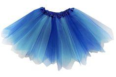 Tutu Sky Blue Lights Length Blues and White Adjustable  Waist 42 Inch Fairy Skirt 18 Inch