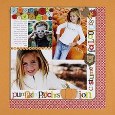 Use Scrapbooking Supply Leftovers in Fall Colors  Design by Amy Licht
