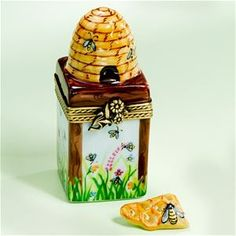 Limoges Honey Comb with Beehive, Bees Box The Cottage Shop