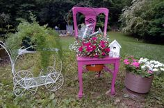 country chair planters - Bing Images