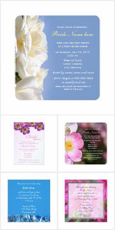 Floral Bridal Shower Invtations