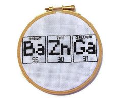 Big Bang Theory Bazinga Hoop - need more BBT-themed items - also, art bow of X-stitch fabric with x-stitch detail?