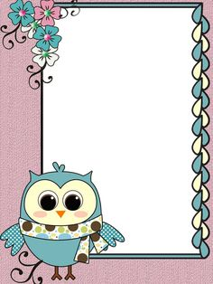 Borders For Paper, Borders And Frames, Crafts For Kids To Make, Art For Kids, Owl Clip Art, Princess Birthday Invitations, Baby Scrapbook Pages, Cute Emoji Wallpaper, Frame Clipart