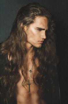The beauty of long hair on a man....
