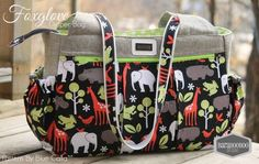 The Foxglove Bag - Fitness or Diaper bag - PDF Sewing Pattern