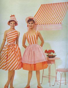 Candy Stripes    From Seventeen, March 1961