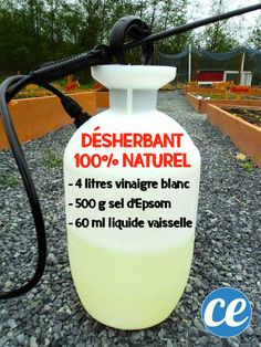A backyard sprayer with a do-it-yourself weed recipe. Weed Recipes, Der Handel, Weed Killer, Cleaners Homemade, Irrigation, Medicinal Herbs, Horticulture, Indoor Garden, Spray Bottle