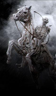 The Four Horsemen of the Apocalypse Apocalypse Tattoo, Apocalypse Art, Horsemen Of The Apocalypse, Dark Fantasy Art, Dark Art, Ghost Raider, Grim Reaper Art, Reaper Tattoo, Vampires