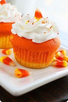Candy Corn Cupcakes-- so cute!!