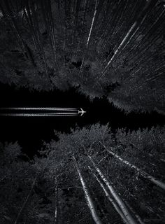 Sky Trail by Toby Harriman Black White Photos, Black And White Photography, Shades Of Black, Night Skies, Nocturne, Art Photography, Aerial Photography, Amazing Photography, Landscape Photography