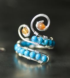Genuine Turquoise Agate Silver Copper Ring by Moss & Mist Jewelry by Moss & Mist Jewelry, via Flickr
