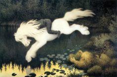 Gutt på hvit hest (Boy on white horse) - Theodor Kittelsen Mythological Creatures, Mythical Creatures, Folklore, Scariest Monsters, Estilo Geek, Legendary Monsters, Legendary Creature, Illustrator, Art Populaire