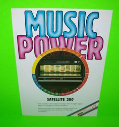 NSM SATELLITE 200 Original 1983 NOS Phonograph Music Promo Sales Flyer Brochure #NSMSatellite200