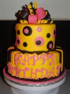 Bright & fun celebration cake