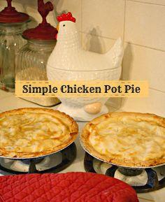 easy chicken pot pie, turkey pot pie