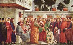 Masaccio. Resurrection of the Son of Theophilus - 1426