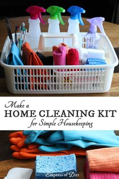Make a Home Cleaning Kit | Free Printable
